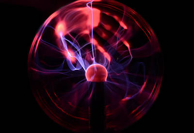 Gas Lamp Photograph - Plasma Lamp by Science Source
