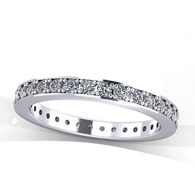 Morganite Jewelry - Platinum Diamond Eternity Band by Eternity Collection