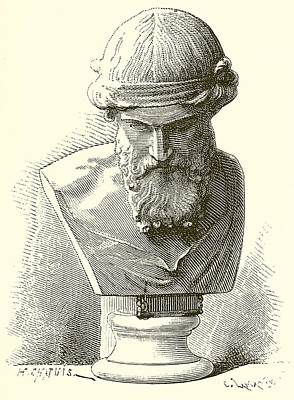 Academic Sculpture - Plato  by English School