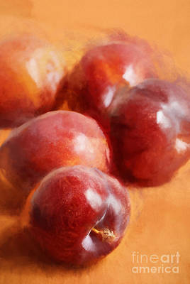 Warm Digital Art - Plums by HD Connelly