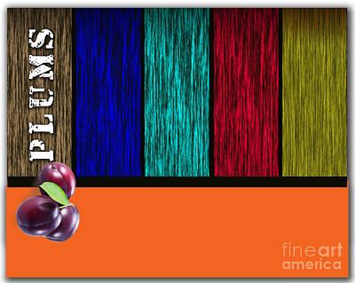 Plums Art Print by Marvin Blaine