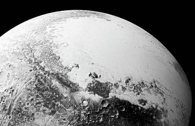 Cthulhu Photograph - Pluto by Nasa/johns Hopkins University Applied Physics Laboratory/southwest Research Institute