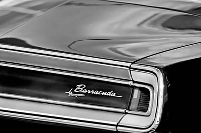 Photograph - Plymouth Barracuda Taillight Emblem by Jill Reger