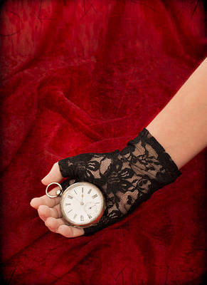 Black Lace Photograph - Pocket Watch by Amanda Elwell
