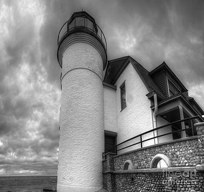 Northport Photograph - Point Betsie In Black And White by Twenty Two North Photography