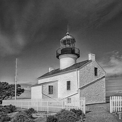 Point Loma Lighthouse Art Print by Hugh Smith