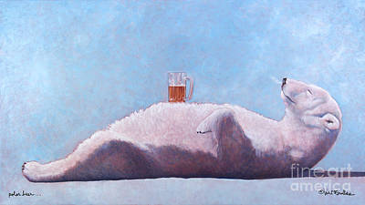 Winter Sports Painting - polar beer ... by Will Bullas by Will Bullas