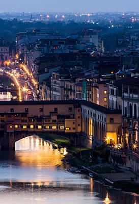 Photograph - Ponte Vecchio - Florence Italy by Carl Amoth