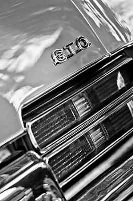 Photograph - Pontiac Gto Taillight Emblem by Jill Reger