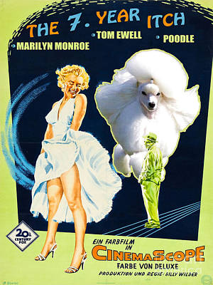 Poodle Art - The Seven Year Itch Movie Poster Art Print by Sandra Sij