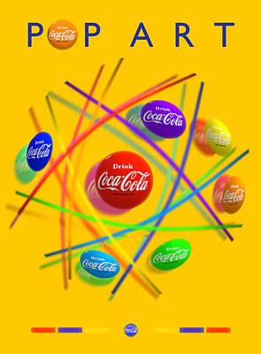 Coca-cola Painting - Pop Art by Charles Stuart