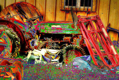 Photograph - Pop Art Tractor by Doc Braham