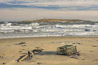 Maine Beach Photograph - Popham Beach On The Maine Coast by Keith Webber Jr