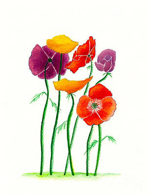 Painting - Poppies A Plenty by Nan Wright
