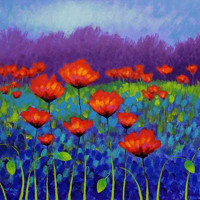 Irish Painting - Poppy Meadow by John  Nolan