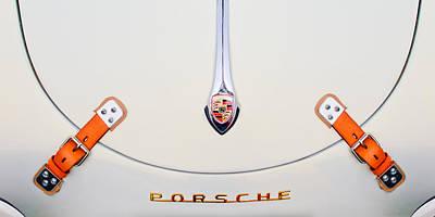 Porsche 1600 Hood Emblem Art Print by Jill Reger