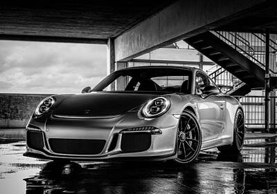 Silver Digital Art - Porsche 911 Gt3 by Douglas Pittman