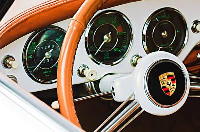 Wheel Photograph - Porsche Steering Wheel Emblem by Jill Reger