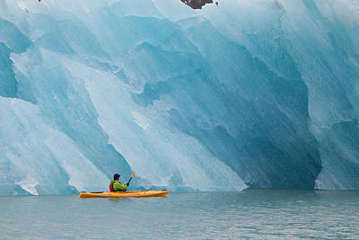 Kayaker Photograph - Port Nellie Juan, Prince William Sound by Hugh Rose