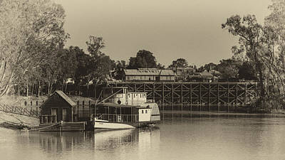 A White Christmas Cityscape - Port of Echuca by Craig Francisco