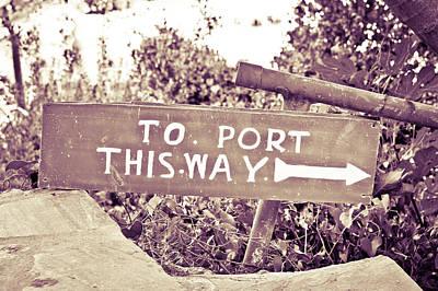 Port Sign Art Print
