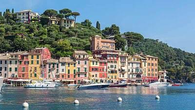 Portofino Harbour Photograph - Portofino, Italy by Ken Welsh