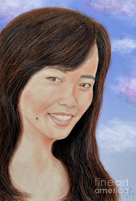 Sunny Day Drawing - Portrait Of A Filipina Beauty by Jim Fitzpatrick
