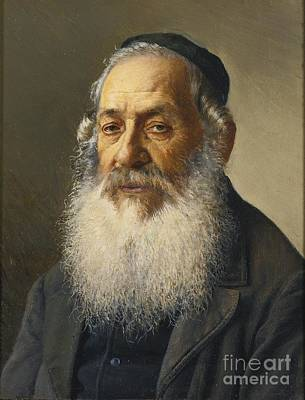 Rabbi Painting - Portrait Of A Rabbi by Celestial Images