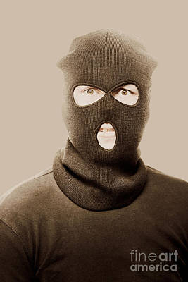 Portrait Of A Vintage Terrorist Art Print by Jorgo Photography - Wall Art Gallery