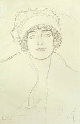 Klimt Drawing - Portrait Of A Young Woman by Gustav Klimt