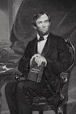Famous Book Painting - Portrait Of Abraham Lincoln by Alonzo Chappel