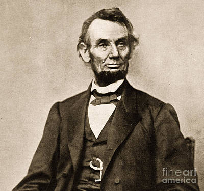 Republican Photograph - Portrait Of Abraham Lincoln by Mathew Brady