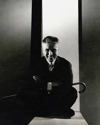 Portrait Of Charlie Chaplin Art Print