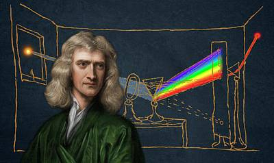 Isaac Newton Photograph - Portrait Of Isaac Newton by David Parker