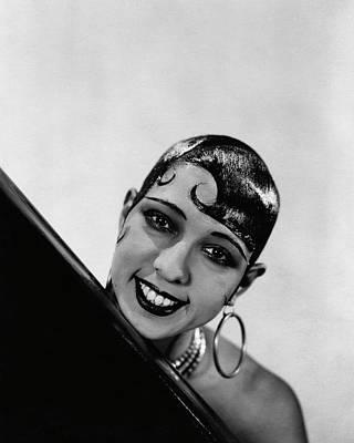Earrings Photograph - Portrait Of Josephine Baker by George Hoyningen-Huene