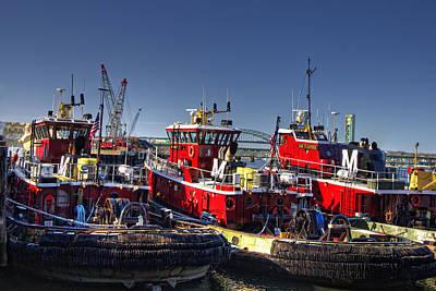 Nautical Photograph - Portsmouth Tugs by Joann Vitali