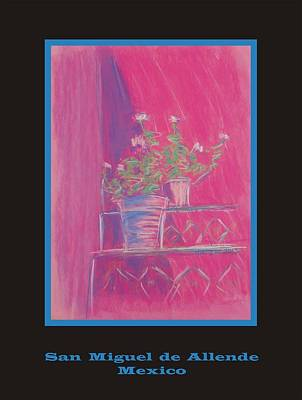 Pastel - Poster - Pink Geranium by Marcia Meade