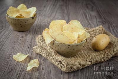 Potato Chip Photograph - Potato Chips by Sabino Parente