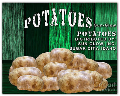 Potato Farm Art Print by Marvin Blaine