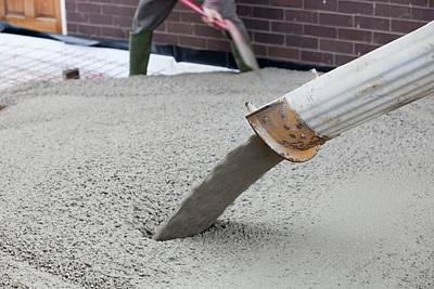 Pouring Concrete Print by Ashley Cooper