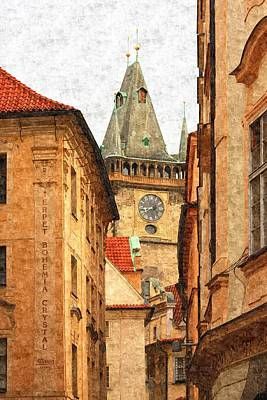 Prague - Old Town Art Print by Ludek Sagi Lukac