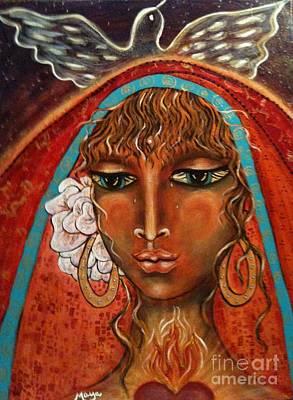 Ear Rings Painting - Pray For Peace by Maya Telford