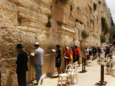 Photograph - Praying At The Wailing Wall by Doc Braham