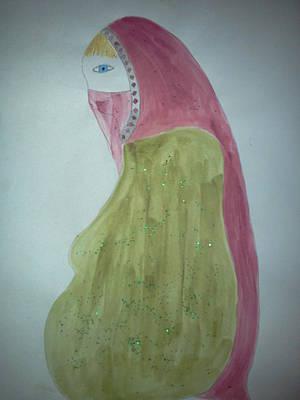 Praying Woman Art Print by Karen Jensen