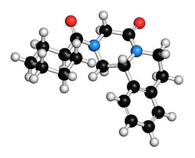 Praziquantel Anthelmintic Drug Molecule Art Print