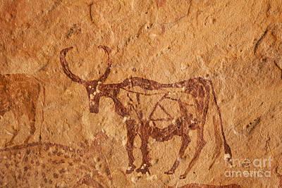 Sahara Photograph - Prehistoric Rock Art by Robert Preston