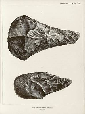 64 Photograph - Prehistoric Stone Tools by Middle Temple Library