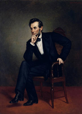 President Lincoln Painting - President Abraham Lincoln by War Is Hell Store