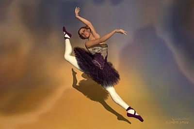 Prima Ballerina Georgia Grand Jete Pose Art Print by Andre Price