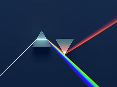 2 Prisms In Newtonian Arrangement Art Print by David Parker